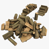 3d firewood modeled