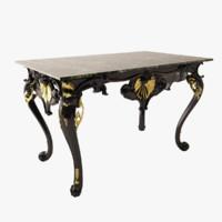 table rococo 3d model