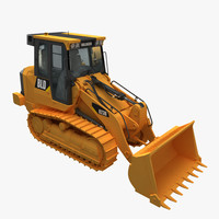 industry bulldozer 3d model
