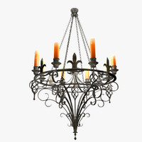 maya forged chandelier