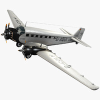 junkers ju 52 transport 3d model