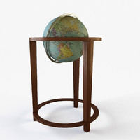 3d globe library office model