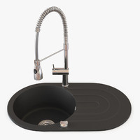 3d model design spring kitchen sink