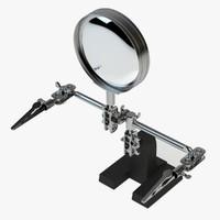 3d model adjustable parts holder magnification