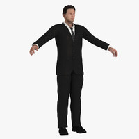 3d man businessman andy rigged character model
