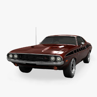3d model of dodge challenger rt