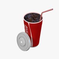 cola cup 3d model