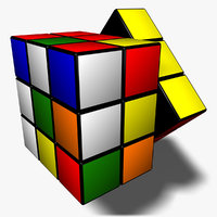 3d rubik s cube animation model