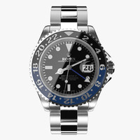 rolex gmt-master ii blue 3d model