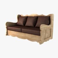 maya wood sofa