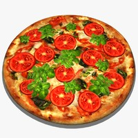 realistic pizza 3d model
