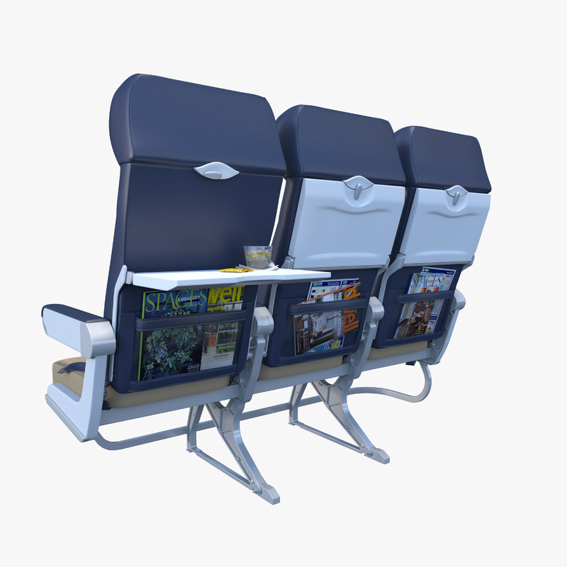 airline chairs 3d max. Black Bedroom Furniture Sets. Home Design Ideas