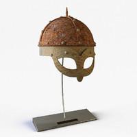 viking helmet 3d dwg