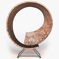 3dsmax modern twist chair