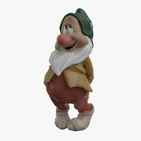 bashful dwarf 3d model