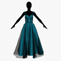 3ds max dress turquoise