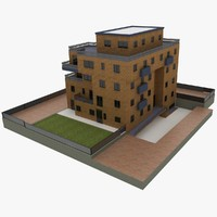 3d realistic apartment building 2