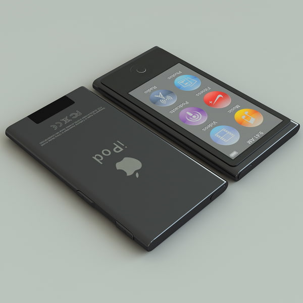 black ipod nano generation 3d model