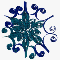3d model quilling snowflakes grid 01