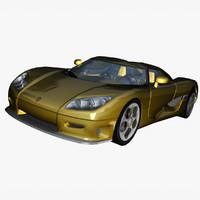 hypercar 2004 koenigsegg 3d model