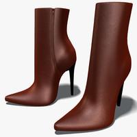 heel boots 3d model