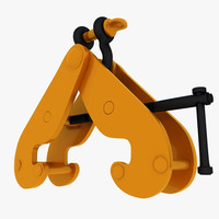 maya beam clamp anchor shackle