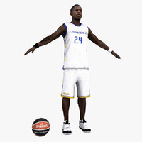 rigged basketball player 3d model