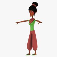 african girl 3d model