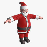 3ds max cartoon santa claus