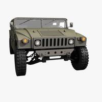 3d model military hummer