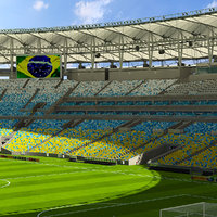 3d model of maracanã soccer
