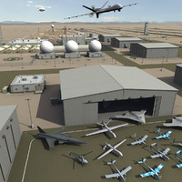 3ds max massive airbase uav base