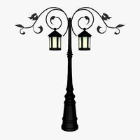 lamp lights post 3d max