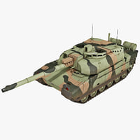 3d french amx-56 main battle tank model