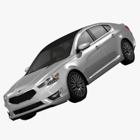kia cadenza limited luxury 3d model