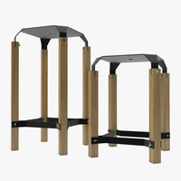 3d group stools chair -