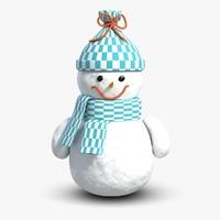 scene snowman 3d model