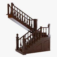 3d max english staircase