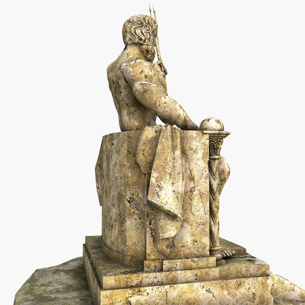3d obj poseidon statue - Poseidon statue greece ...