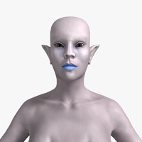 Female Alien (Rigged)
