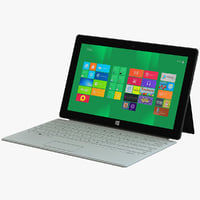 white microsoft surface tablet 3d 3ds