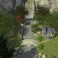 3d house falls model