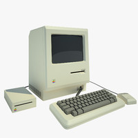 apple macintosh1984 3d model