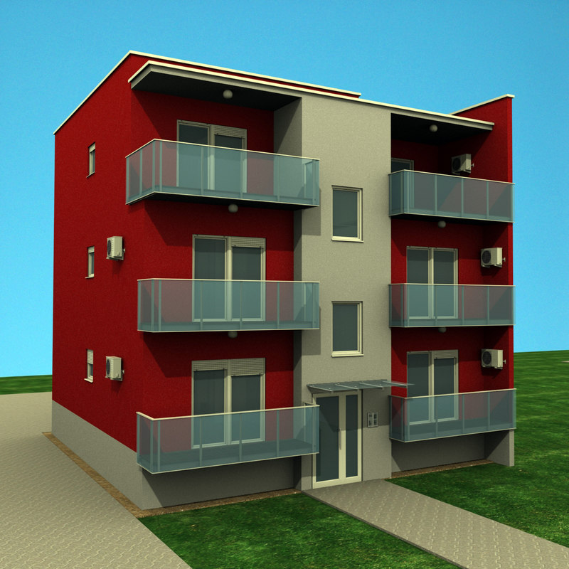 Apartments building 3d model for Apartment 3d model