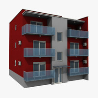 apartments building 3d model