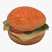 3d hamburger burger model