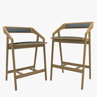 counter bar chair - obj