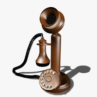 Vintage Metallic Telephone