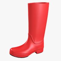 crocs rain boot 3d model