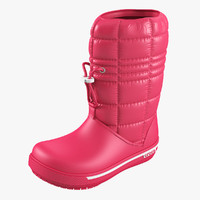 3d model crocs women win boot